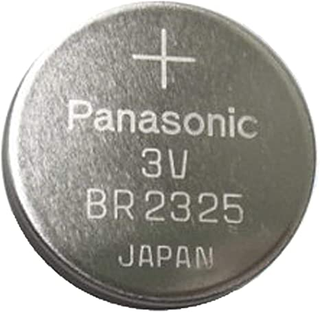 FedCo Batteries Compatible with Panasonic BR2325-1HE 165mAh Lithium Coin Cell for Printed Circuit Board Mounting