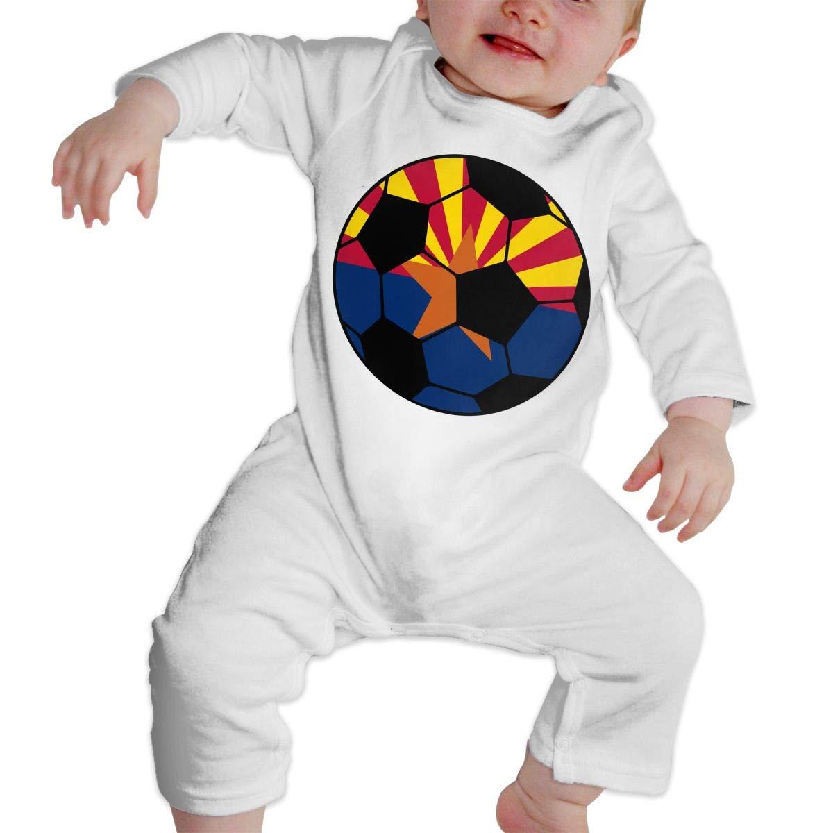 Arizona Soccer Flag Infant Girls Boys Sleep and Play Romper Jumpsuit