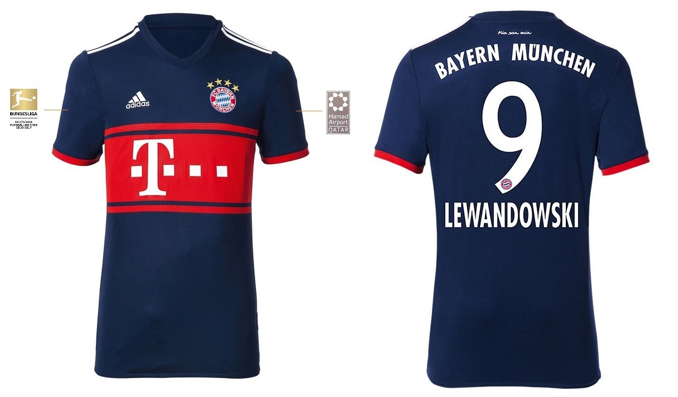 FCB Trikot Kinder 2017-2018 Away BL - Lewandowski 9