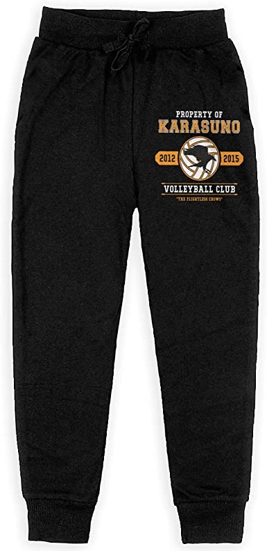 Jotaro Anime Haikyuu Karasuno High School Sweatpants Bottom Long Pant with Pocket for Men