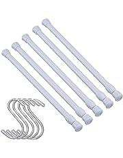 5 piezas barra extensible armario ajustable de 15,7 pulgadas a 27,5 pulgadas(40-70cm)para proyectos de bricolaje barra armario,cocina,baño,armario,armario,ventana,estantería