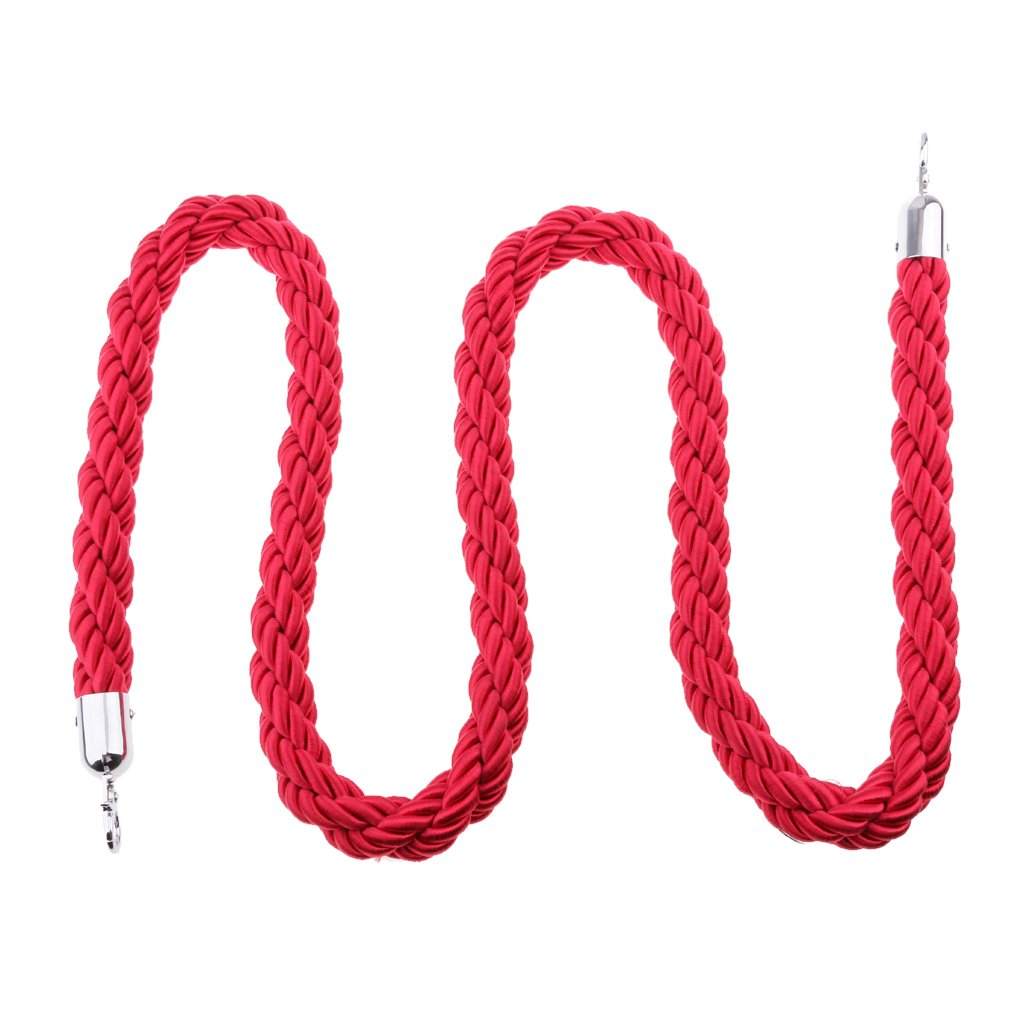 Rope for Barrier Stands 200cm, 300cm | Rope Barrier Stand | Rope Barriers for Queue Management, Rope Barriers for Clubs and Cinemas - Red, 3m