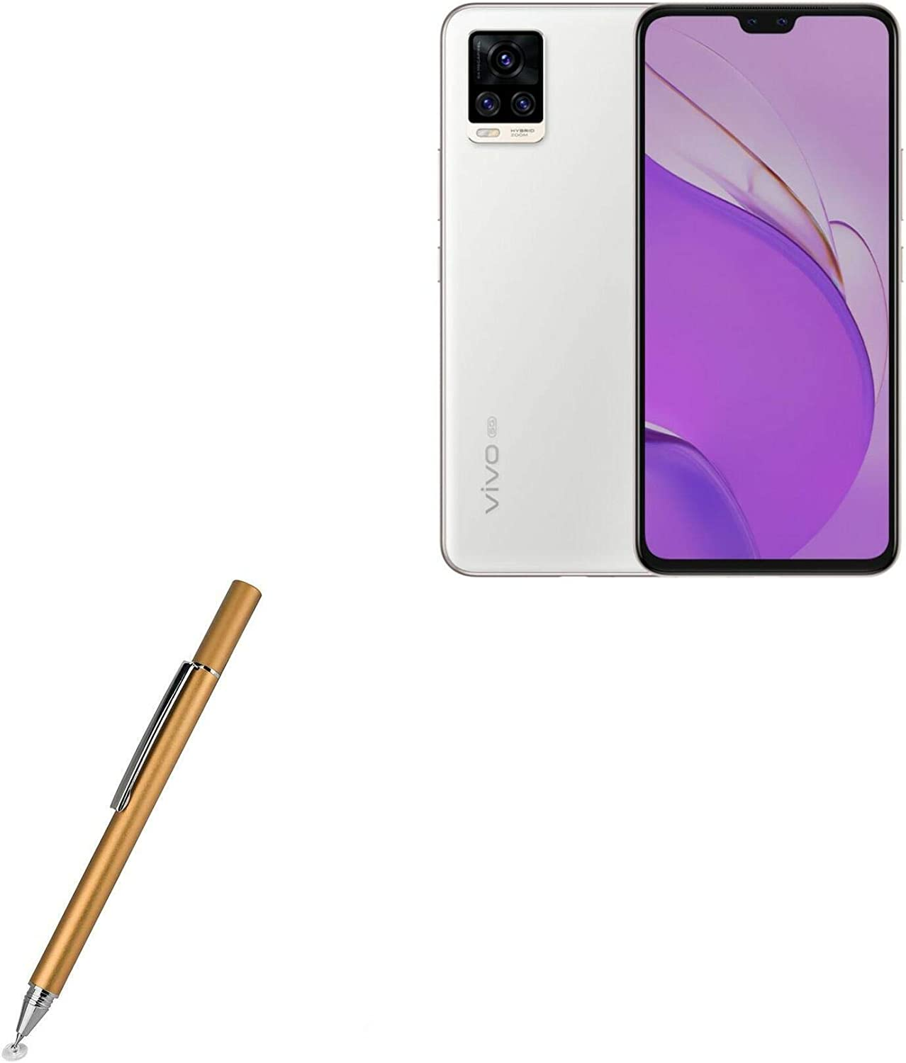 Broonel Red Fine Point Digital Active Stylus Pen Compatible with The/BLU VIVO X6
