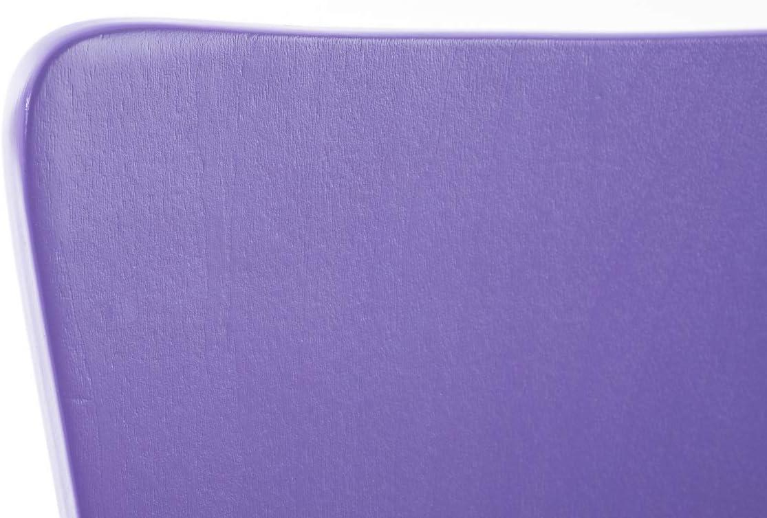 Portata Max 120KG Arancione CLP Set 8X Sedie Impilabili Aaron in Legno E Metallo I Sedia Ospite Facile da Pulire Design Classico I Sedia Attesa Ergonomica