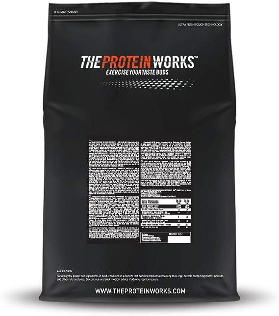 Whey Protein 80   82% De Proteína   Batido Alto En Proteínas & Bajo En Azúcares   THE PROTEIN WORKS   Plátano Suave   500g