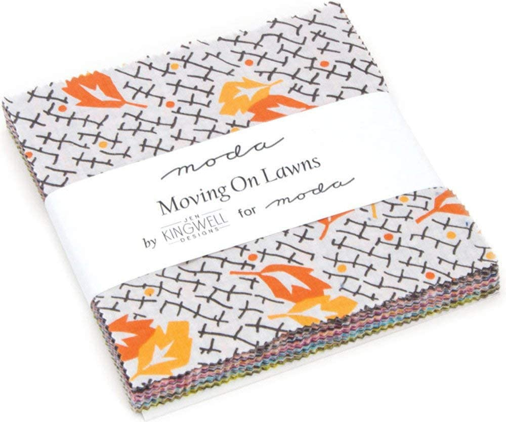 Behind the Scenes Charm Pack by Jen Kingwell; 42-5 Precut Fabric Quilt Squares