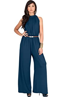481c91d0ade KOH KOH Womens Sexy Sleeveless Wide Leg Pants Cocktail Pantsuit Jumpsuit  Romper