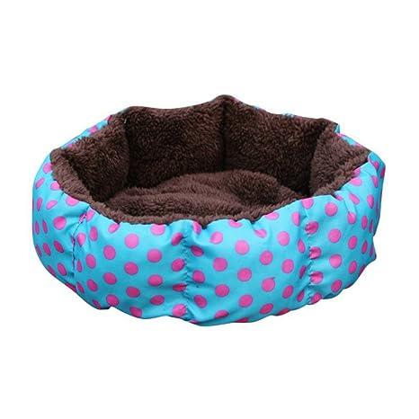 Amazon.com: Colorido perro cama cachorro casa suave invierno ...