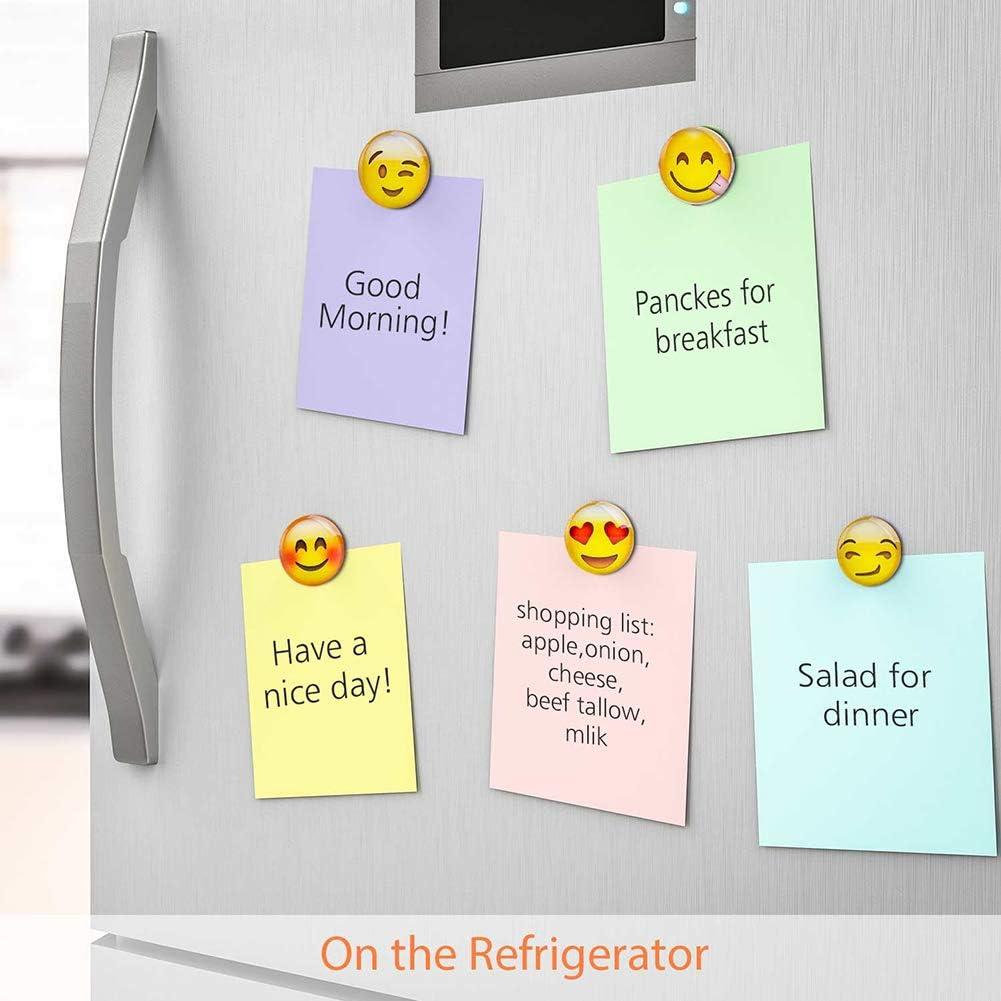 Lot de 12 aimants en verre pour r/éfrig/érateur Motif emoji