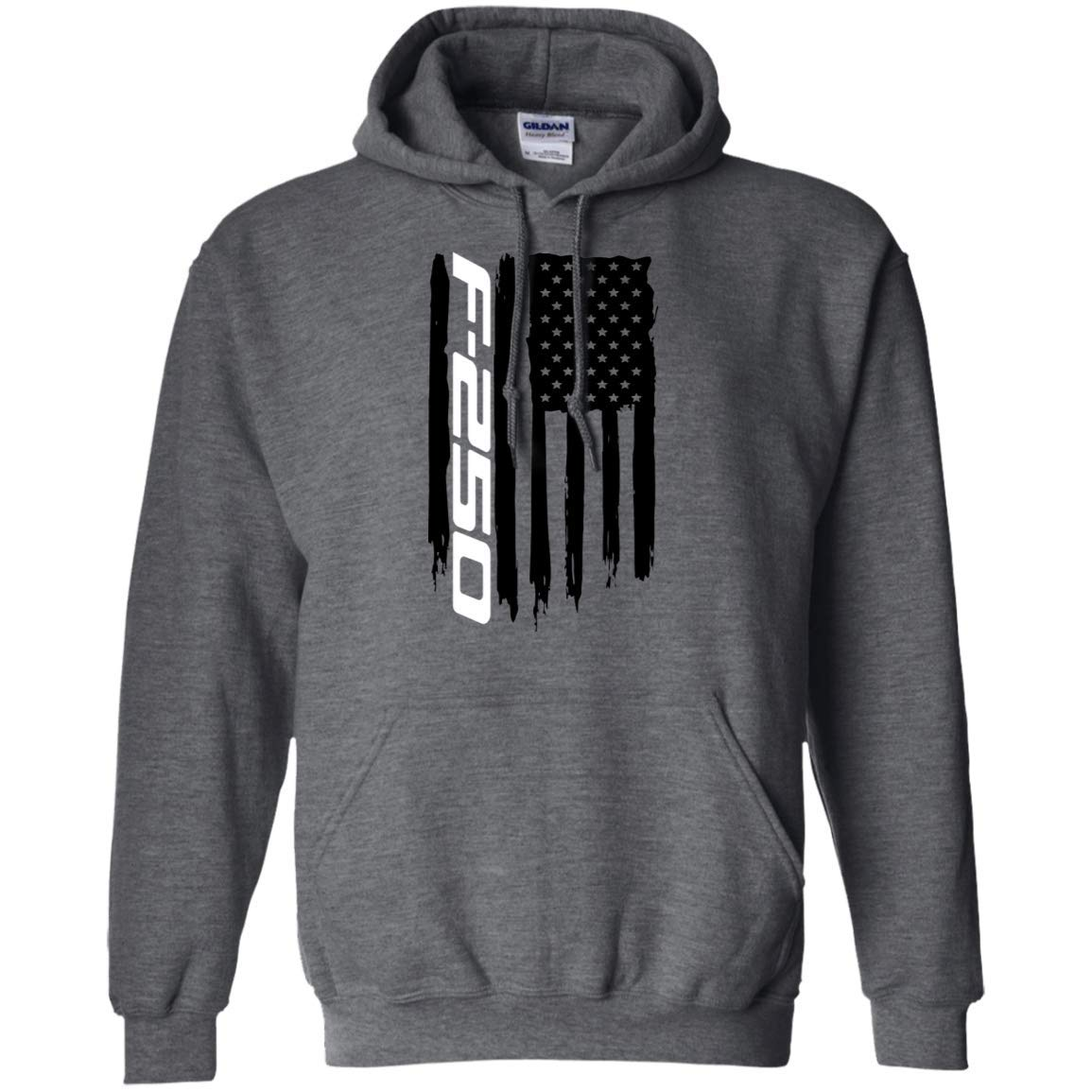 Wheel Spin Addict Mens F-250 F250 Truck American Flag Hoodie