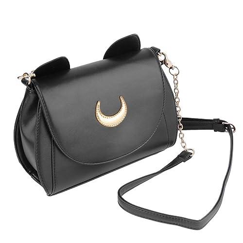 Embellecido con luna encantadora y diseño de oreja de los gatos Moda Cosplay lindo Sailor Moon PU de cuero bolso de mujer bolsos de hombro: Amazon.es: ...