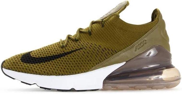 Sentirse mal partícula Qué  Nike Shoes Air Max 270 Flyknit Green/Black/Beige Size: 45: Amazon.de:  Schuhe & Handtaschen