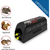 Electronic Rat Trap - Aspectek Rodent, Mice and Squirrels Exterminator -Safe,Humane and Clean