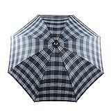 Atree Walking Stick Umbrella, T Handle Umbrella Cane, Super Reinforced long-stem Umbrellas For The Elders, Defensive Non-slip Hiking, Gift For Parents And Outdoor Hikers-Gray Pleid