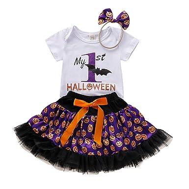 FELZ Vestidos Bebe Niña, Ropa Bebe Niña Disfraz Halloween Carta ...