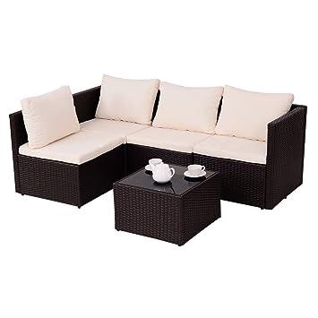 Amazonde Costway Poly Rattan Rattanmöbel Gartenmöbel Lounge Set