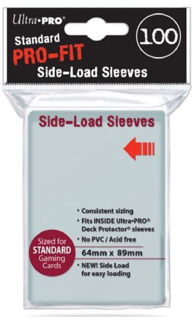 (500) ULTRA PRO PRO-FIT Side Loading Inner Card Sleeves MTG Pokemon STANDARD Deck Size (5 packs of 100) [Double Sleeving]