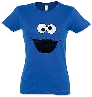 3c5a9d8714 Cookie Monster Damen T-Shirt – Kekse Bert Krümel Puppet Sesame Monster  Place Sesamstraße Ernie
