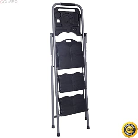 Prime Colibrox New Hd 3 Step Ladder Platform Folding Stool 330 Lbs Capacity Space Saving W Tray Step Ladder Home Depot Lowes Step Stools Little Giant Pabps2019 Chair Design Images Pabps2019Com
