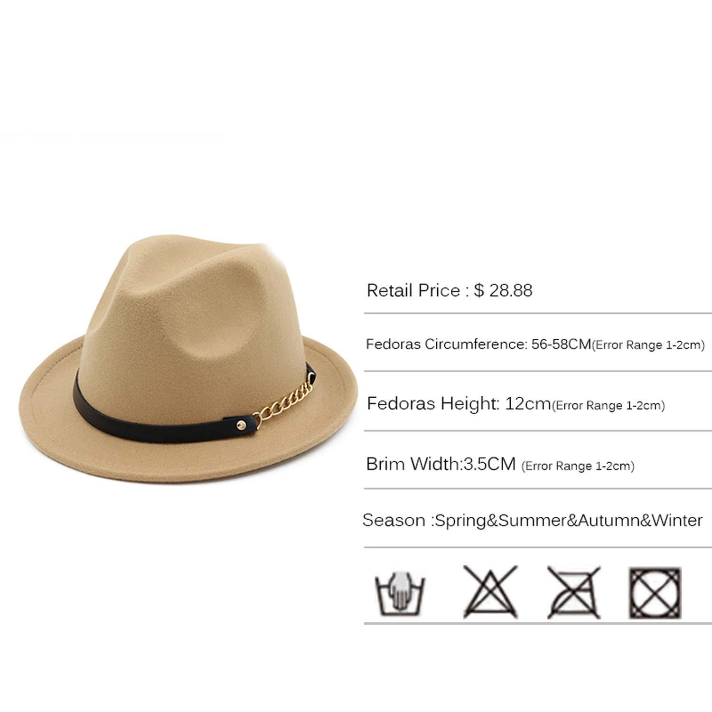Cotton Camel Fedora Hat for Woman Elegant Men Gentleman Godfather Wide Trilby Royal Top Cap Vintage Jazz Hats