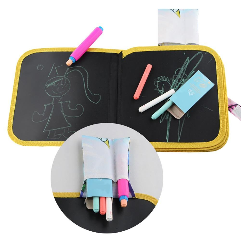 Beatie Tablero de dibujo de Graffiti de aprendizaje de ni/ños Tablero de dibujo de aprendizaje temprano de ni/ños Tablero de dibujo port/átil y aprender Juguete innovador Libro de pa/ño de tiza colorido