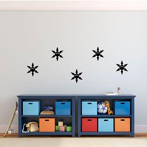 Amazon.com: Lego Ninjago Wall Decal - Ninja Star - Children Bedroom ...