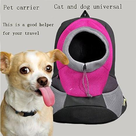 JOEPET Mochila para Perros Cat, Bolsa de Transporte para Mascotas aprobada por la aerolínea con diseño Frontal Transpirable y Hombro Acolchado de Malla ...