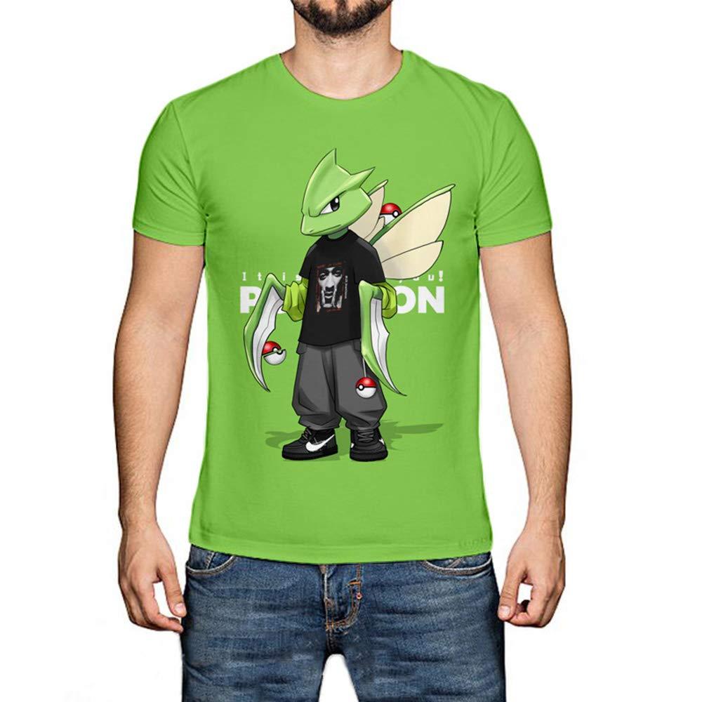 WQWQ Camiseta Deportiva de Manga Corta para Hombre Pikachu ...
