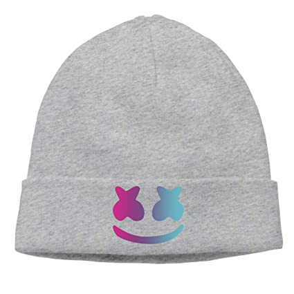 3d70f857377 Amazon.com  Women s Men s Knitted Hat DJ Marshmello Cap Street Dance Hat  Black  Clothing