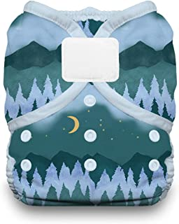 product image for Thirsties Duo Wrap Cloth Diaper Cover, Hook and Loop Closure, Mountain Twilight Size One (6-18 lbs)