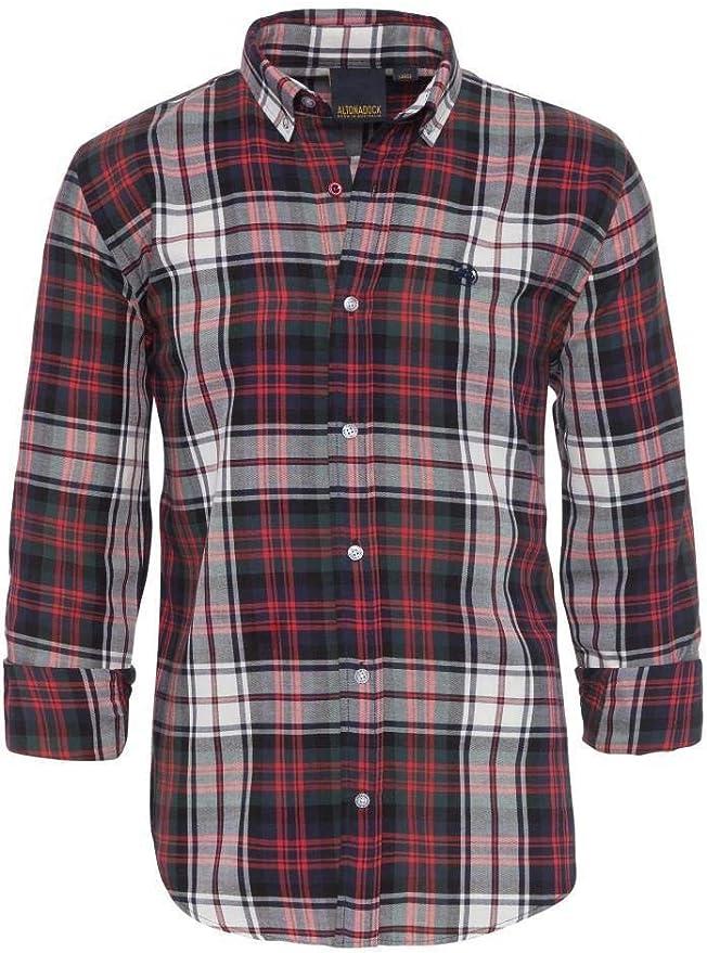 ALTONADOCK Camisa Cuadros Roja Y Blanca para Hombre Medium: Amazon.es: Ropa y accesorios
