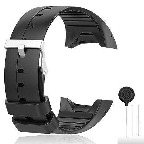 Cyeeson Polar M400/M430 Correa reloj Silicona Blanda Ajustable Banda de pulsera de Gel Brazalete