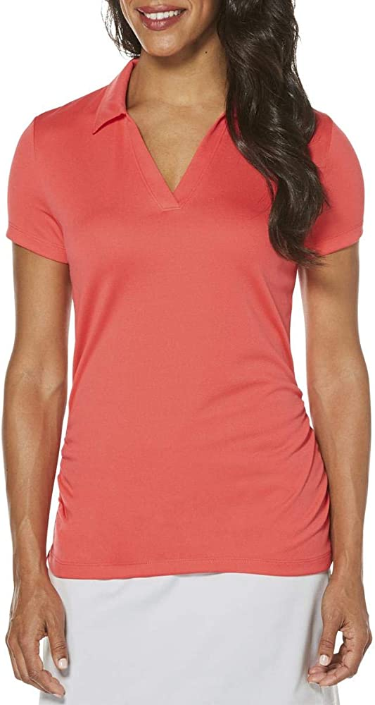 PGA TOUR - Polo de Golf para Mujer - Rojo - Medium: Amazon.es ...