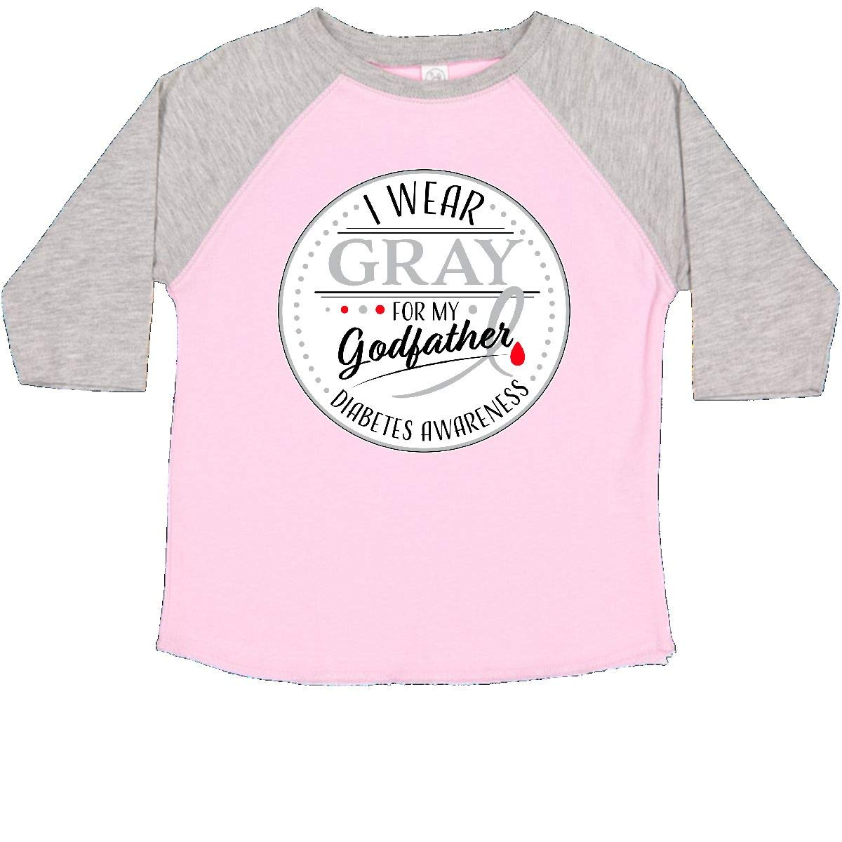 inktastic I Wear Gray for My Godfather Diabetes Awareness Baby T-Shirt