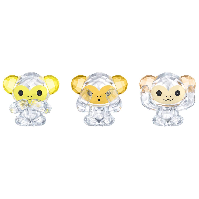 Swarovski Three Wise Monkeys Figurines. 3 pc. Set by Swarovski (Image #1)