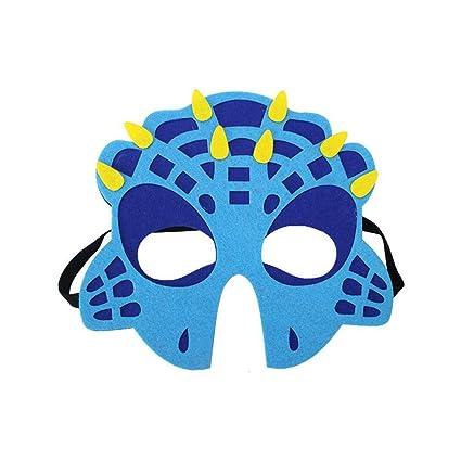 FOONEE Máscara de Dinosaurio, máscaras de Fieltro para Animales, Juguetes de Dinosaurio para niños