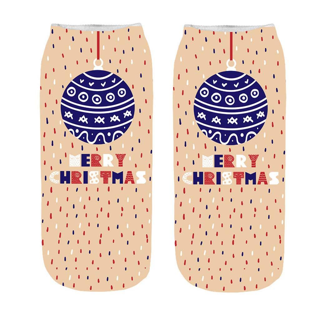 2019Christmas Socks,Socks For Toddler Girls,Unisex Christmas Funny 3D Printed Socks Cute Low Cut Ankle Socks,