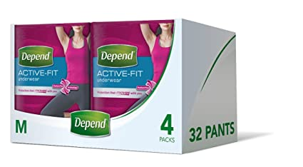 Depend Active Fit – Pañales para adultos para mujer, máxima absorción (el embalaje puede