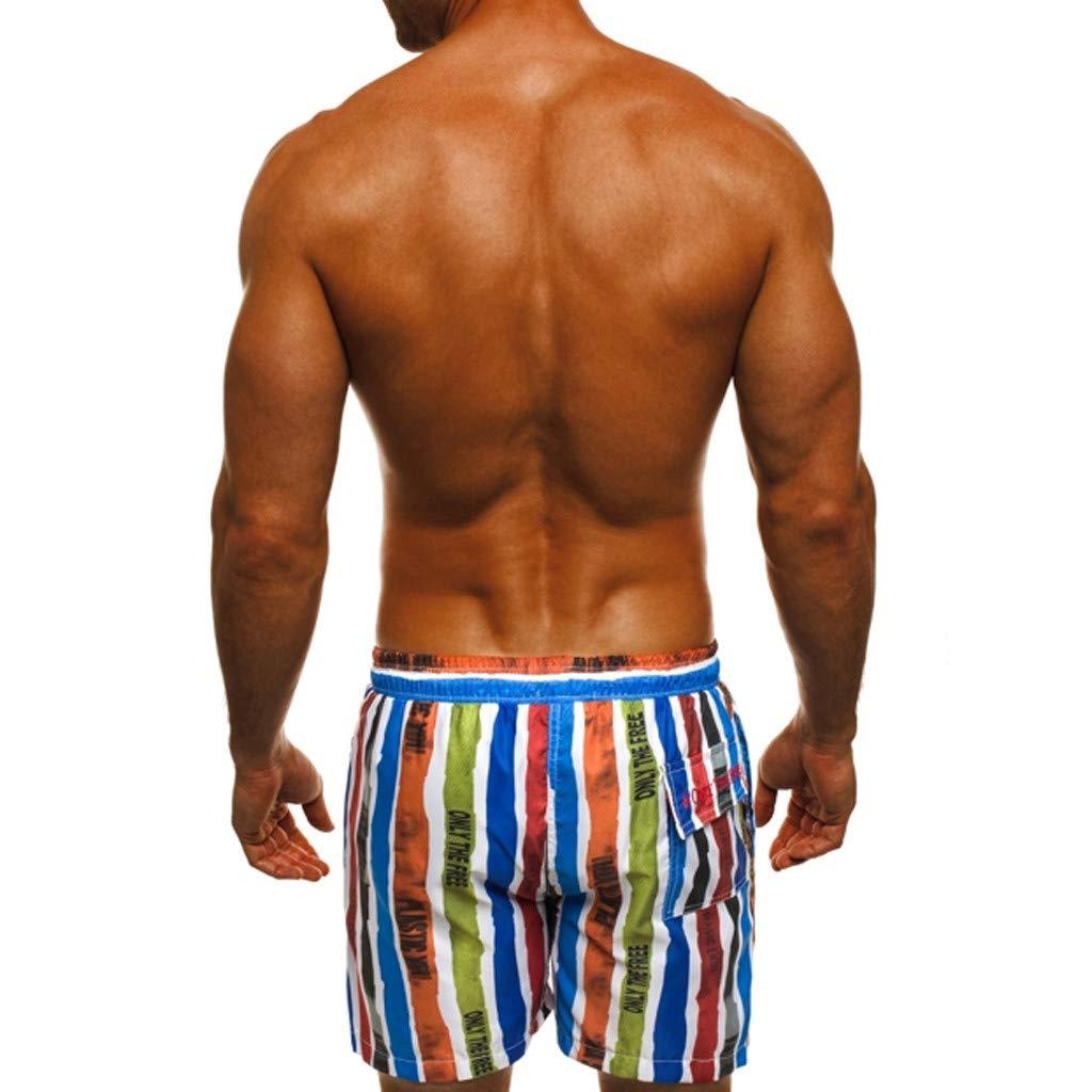 Bohelly Hot 2019 New Mens Summer Print Shorts Hawaiian Swimwear Beach Pants