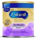 Enfamil Gentlease Gentle Infant Formula, Powder, 20.9 Ounce Can, Pack of 4