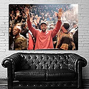 Poster mural kanye west madison square garden 40x58 inch 100x147 cm adhesive vinyl for Madison square garden kanye west