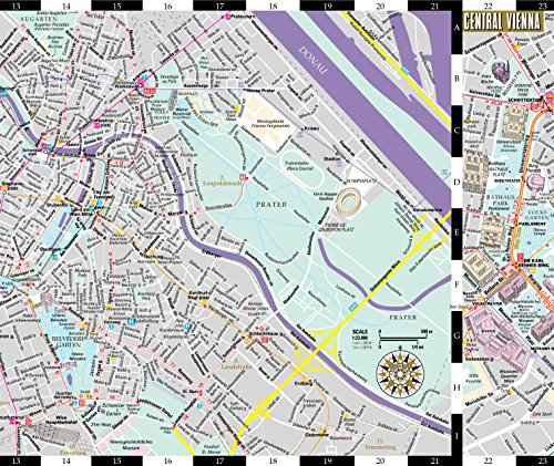 Streetwise Vienna Map Laminated City Center Street Map of Import