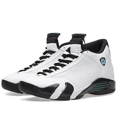 Nike Air Jordan 14 Retro BG - B, Boys Basketball Shoes, WHITE/ BLACK