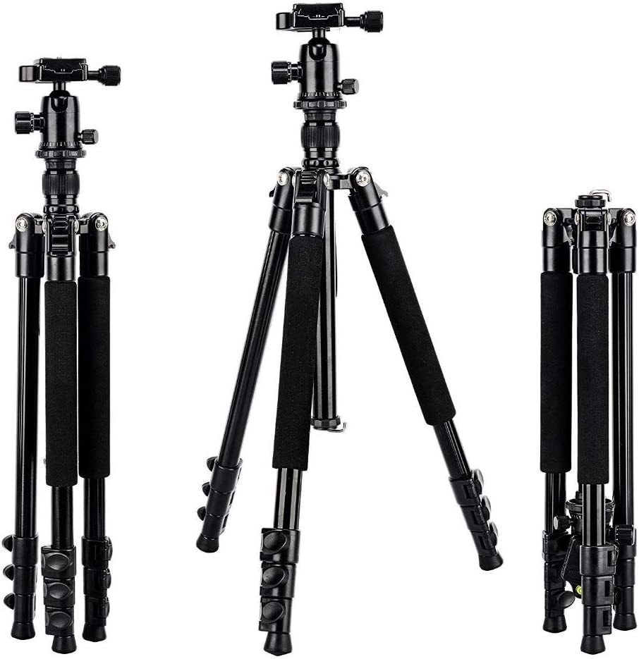 Portable Foldable Travel Tripod Ball Pan Head Stand for DSLR Camera for OSMO Ideal for Vlog Travel and Work