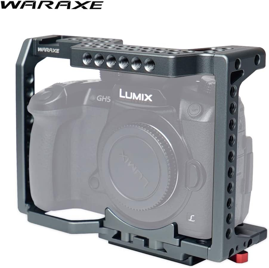 WARAXE Camera CAGE for PANASONIC LUMIX GH4 GH4S GH5