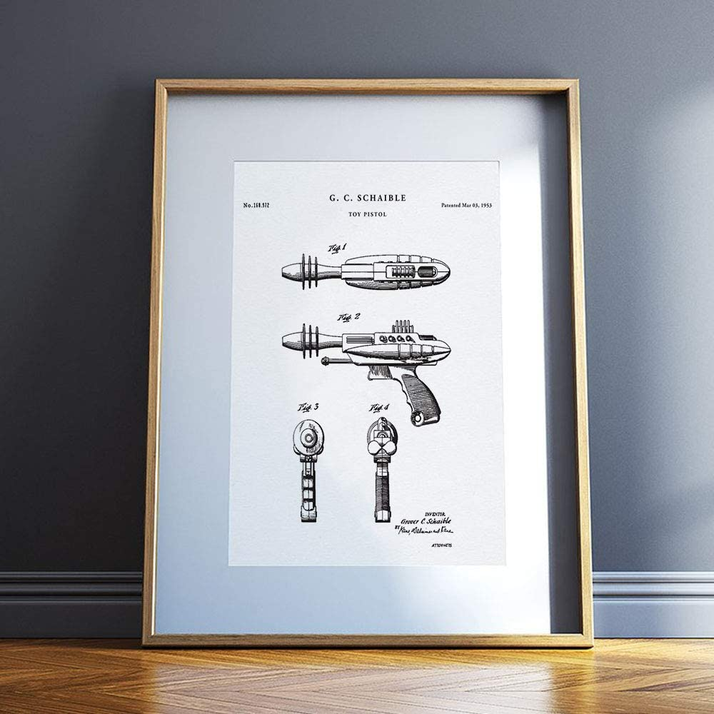 Vintage Toy Ray Guns Poster 24in x36in
