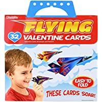 Kangaroo's Flying Paper Airplanes; (32-Count) Valentine's...