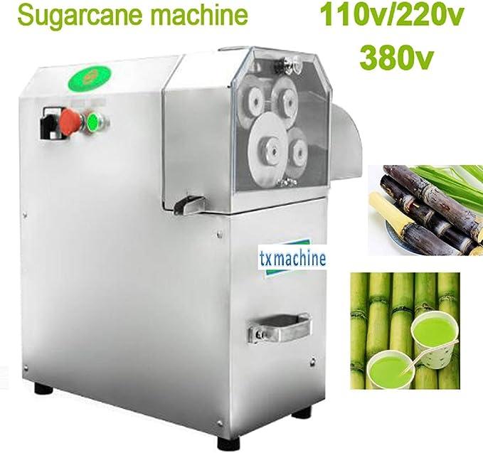 PROMOTOR Commercial Sugar Cane Juicer 110V Electric Sugar Cane Ginger Press Juicer Stainless Steel Desktop