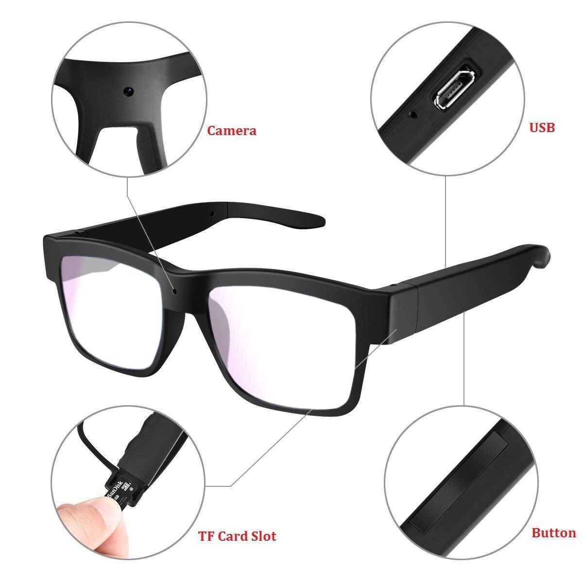 Amazon.com: Gafas de cámara 1080P Miota Mini Video Gafas ...