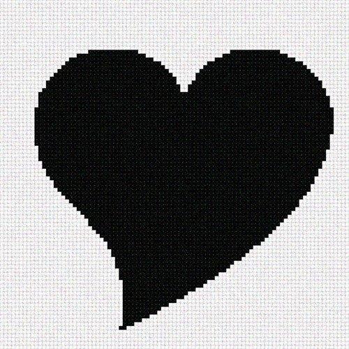 Pointseller Heart Needlepoint Canvas